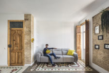 Refurbished home stands in the central district of Ruzafa, Valencia